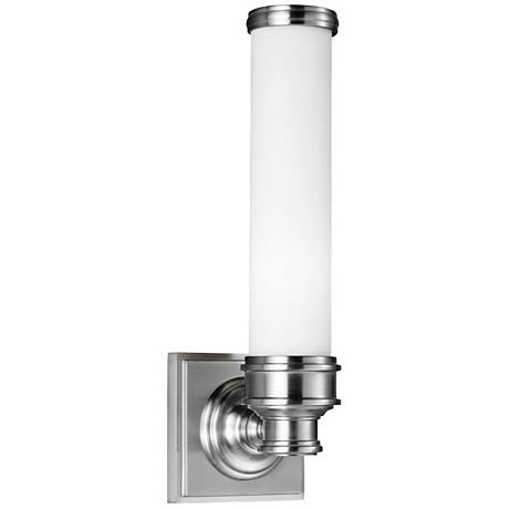 """Feiss Payne 14 1/4"""" High Brushed Steel Wall Sconce"""