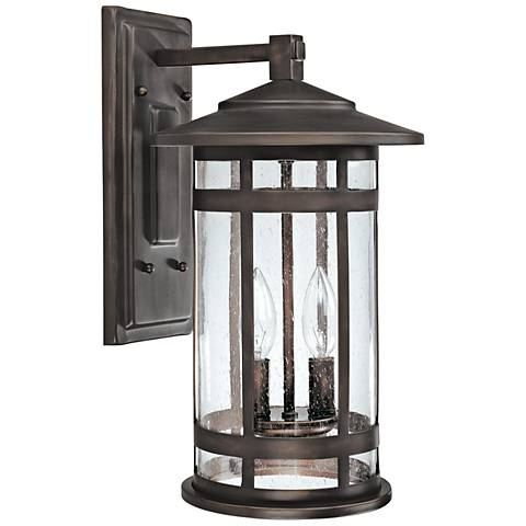 """Capital Mission Hills 16 1/2""""H Bronze Outdoor Wall Light"""