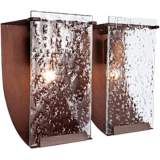 "Varaluz Rain 15""W Hammered Ore Recycled Steel Bath Light"