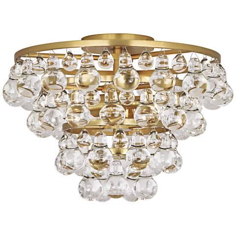 """Robert Abbey Bling 16 3/4"""" Wide Antique Brass Ceiling Light"""