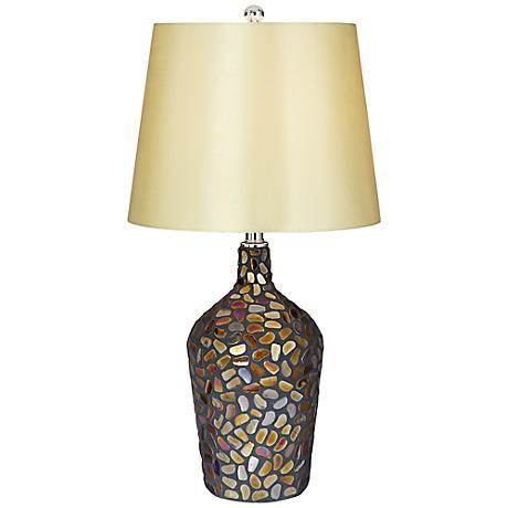 Chloe Glass Mosaic Stones Table Lamp