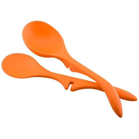 Rachael Ray Tools Lazy Spoon Orange 2-Piece Kitchen Set