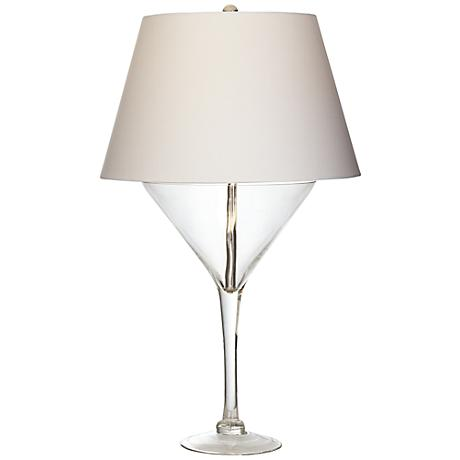 Novelty Lamp Bases : Clear Martini Glass Novelty Glass Table Lamp - #3H257 Lamps Plus