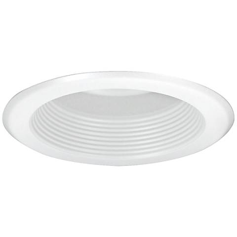 "Nora 5"" Wide White Baffle Splay Recessed Lighting Trim"