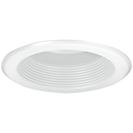 "Nora 5"" Wide White Baffle Splay Recessed Lighting Trim"