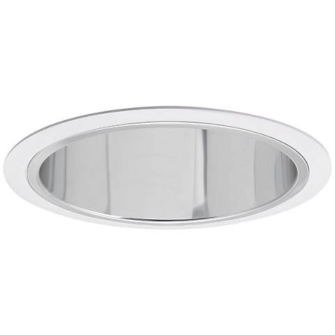 """Nora 7"""" Wide Chrome and White Recessed Lighting Trim"""