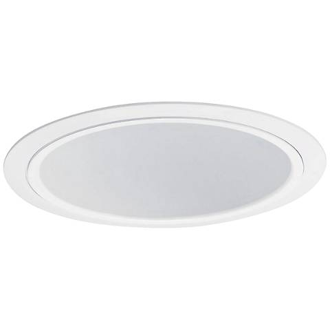 "Nora Lighting 7"" Wide White Recessed Lighting Trim"