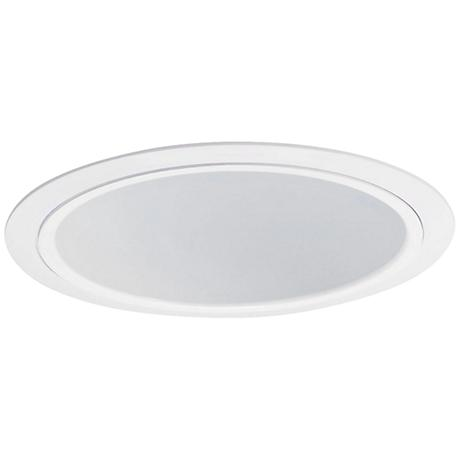 "Nora Lighting 7"" Wide White Recessed Lighting Trim"