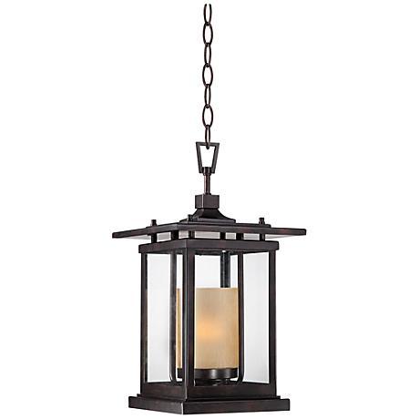 """Foxmoore 16 1/2"""" High Bronze Outdoor Hanging Light"""