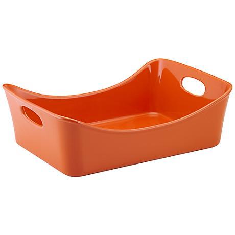 Rachael Ray Stoneware Lasagna Lover 9x13 Orange Pan
