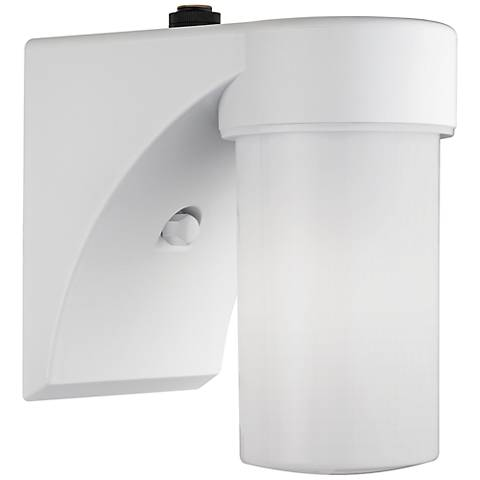 """Eltham White 7 1/2"""" High Dusk-to-Dawn Outdoor Wall Light"""