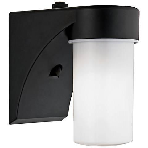 "Eltham Black 7 1/2"" High Dusk-to-Dawn Outdoor Wall Light"