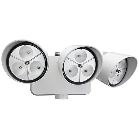 """Three-Light 5"""" High LED Security Floodlight in White"""