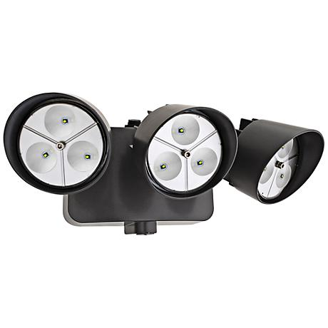 """Three-Light 5"""" High LED Security Floodlight in Bronze"""