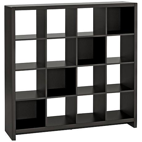 Kathy Ireland New York Skyline Mocha 16-Cube Bookcase