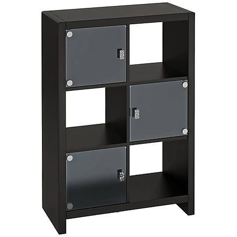 Kathy Ireland New York Skyline Mocha 6-Cube Bookcase