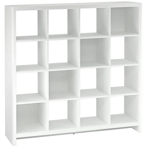Kathy Ireland New York Skyline White 16-Cube Bookcase