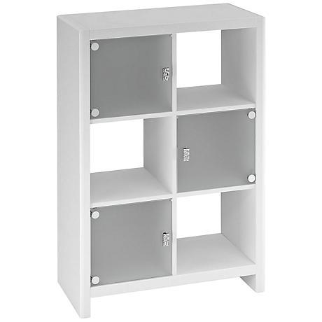 Kathy Ireland New York Skyline White 6-Cube Bookcase