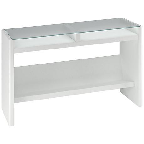 Kathy Ireland New York Skyline White Laptop Table