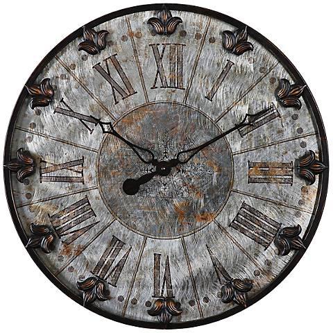 "Uttermost Artemis 24"" Round Antique Style Wall Clock"