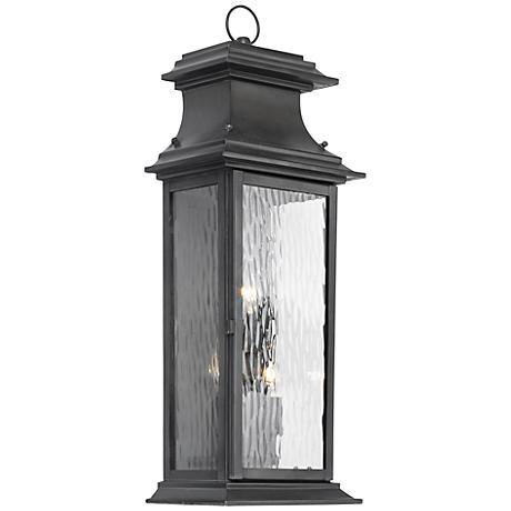 """Provincial Collection 25"""" High Charcoal Outdoor Wall Light"""