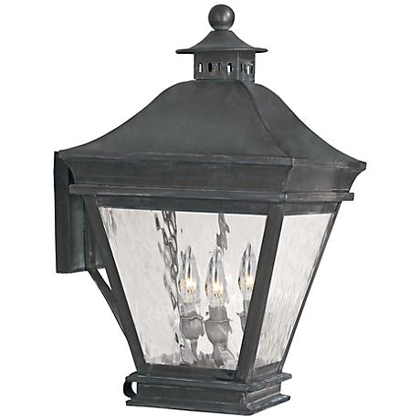 """Landings Collection 19 1/2"""" High Charcoal Outdoor Wall Light"""