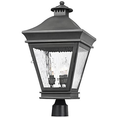 "Landings Collection 22"" High Charcoal Outdoor Post Light"