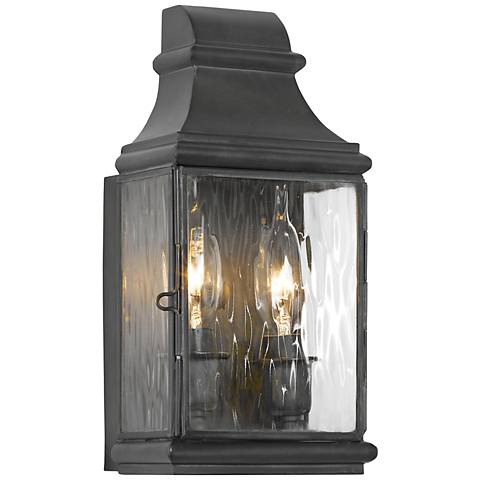 "Jefferson 10 1/2"" High Charcoal Outdoor Wall Light"