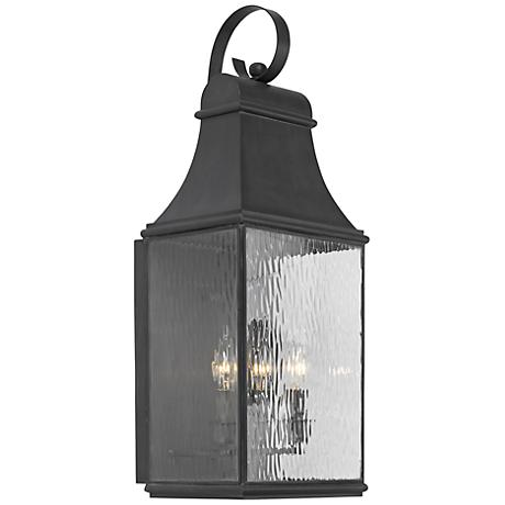 "Jefferson Collection 27"" High Charcoal Outdoor Wall Light"