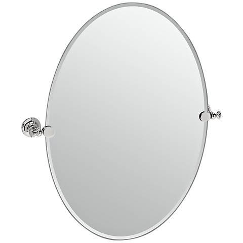 "Gatco Tavern Polished Nickel 24"" x 26 1/2"" Wall Mirror"