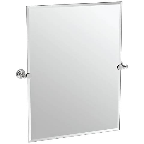 "Gatco Tavern Polished Nickel 28"" x 31 1/2"" Wall Mirror"