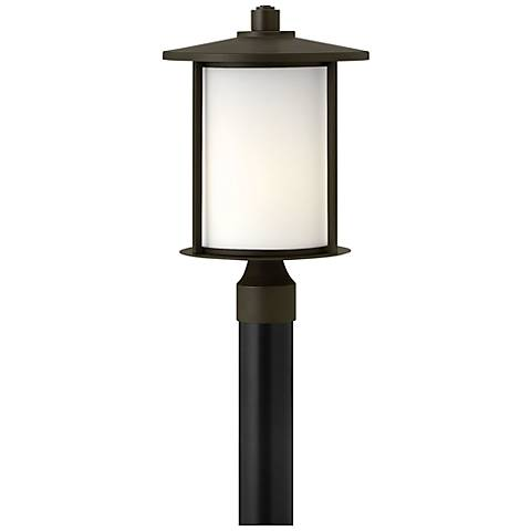 "Hinkley Hudson 16 3/4"" High Bronze Outdoor Post Light"