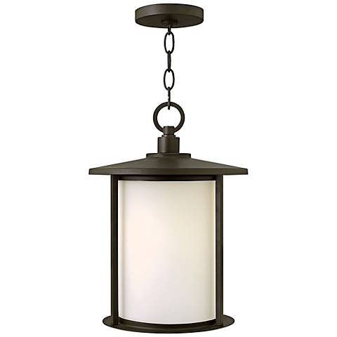 "Hinkley Hudson 15 1/2"" High Bronze Outdoor Hanging Light"