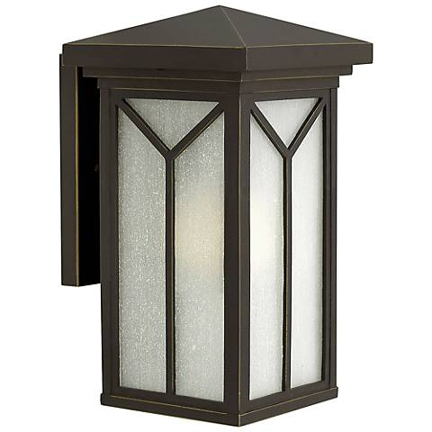 "Hinkley Drake 13 3/4"" High Bronze Outdoor Wall Light"