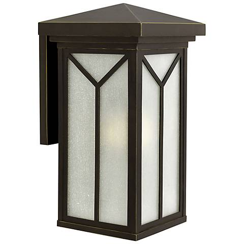 "Hinkley Drake 21"" High Bronze Outdoor Wall Light"