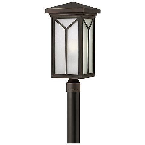"Hinkley Drake 20 3/4"" High Bronze Outdoor Post Light"