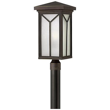 """Hinkley Drake 20 3/4"""" High Bronze Outdoor Post Light"""
