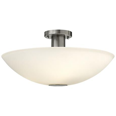 "Hinkley Camden 20"" Wide Brushed Nickel Ceiling Light"