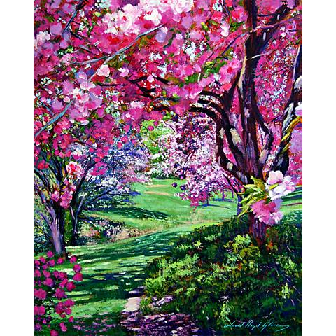 """Floral Park 25"""" High Impressionistic Giclee Wall Art"""