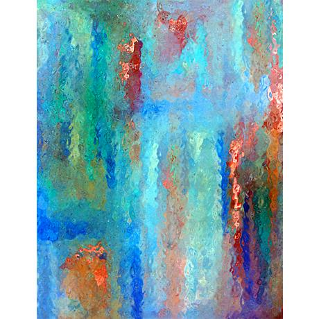 "Ripple 20"" High Abstract Giclee Print on Canvas Wall Art"
