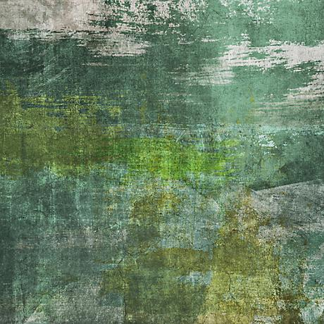 """Green Contemporary III 20"""" Square Giclee Canvas Wall Art"""