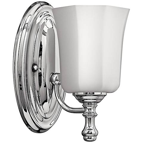 hinkley shelly 9 1 2 high chrome wall sconce 3j488 lamps plus. Black Bedroom Furniture Sets. Home Design Ideas