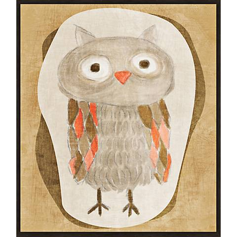 "Brown Owl 14 1/2"" High Contemporary Giclee Wall Art"