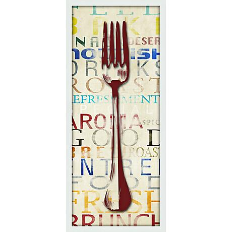 "Utensil Fork 21"" High Contemporary Giclee Print Wall Art"