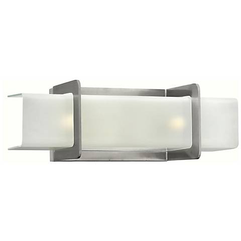 "Hinkley Union 18"" Wide Brushed Nickel Bathroom Light"