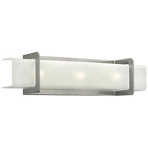 "Hinkley Union 24"" Wide Brushed Nickel Bathroom Light"