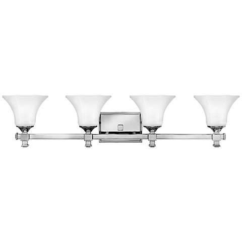 hinkley abbie 34 12 wide chrome bathroom light - Contemporary Bathroom Light Fixtures
