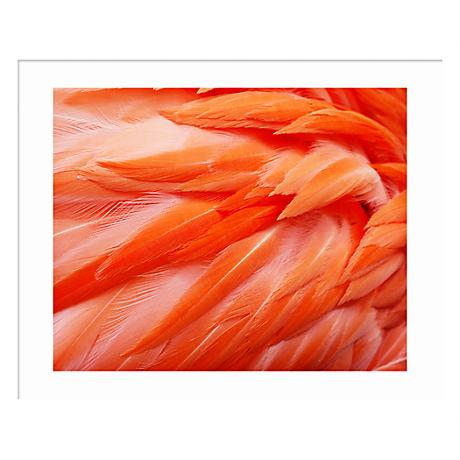 "Flamingo Feathers 32 1/2"" Wide Contemporary Wall Art"