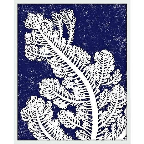 "Coral IV 21"" High Abstract Giclee Silkscreened Wall Art"