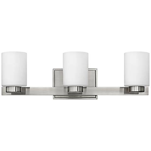 "Hinkley Miley 21 1/2"" Wide Brushed Nickel Bathroom Light"